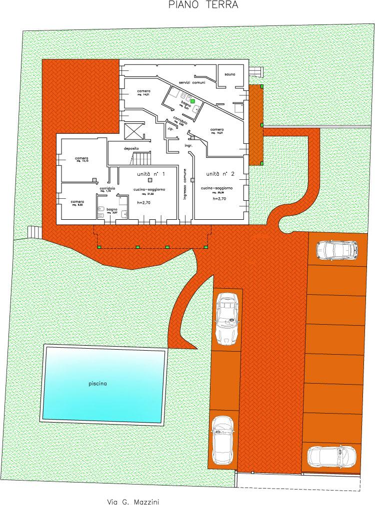 Progettazione edile ristrutturazioni geometra for Disposizione del piano piscina